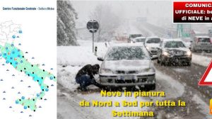 Allerta Meteo, nevicate in pianura