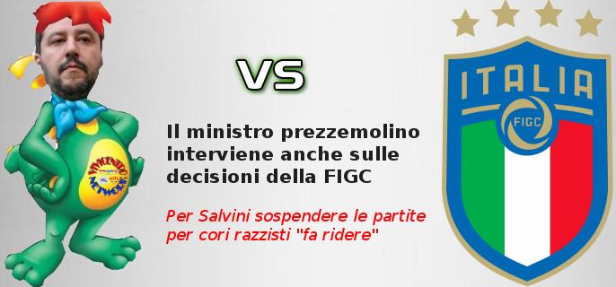 Il ministro prezzemolino interviene anche sulle decisioni della FIGC