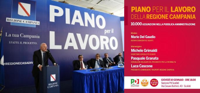 Piano per il Lavoro nelle Pubbliche Amministrazioni della Campania