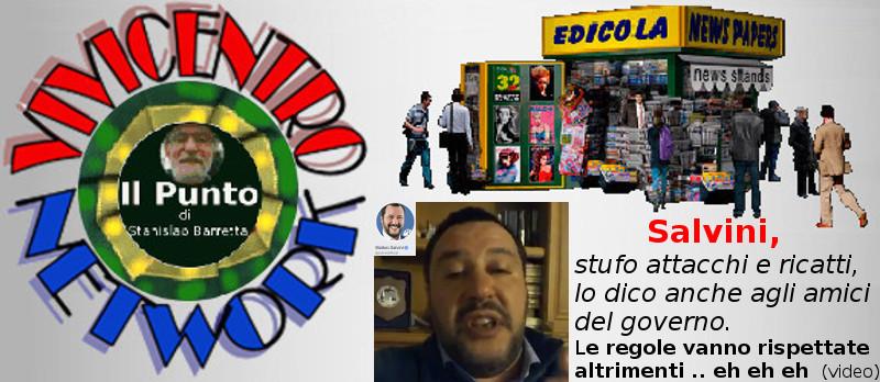 Salvini 080119, avviso su migranti anche ai colleghi di governo
