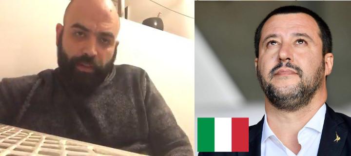 Salvini e Saviano su migranti