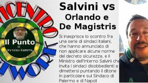 Salvini vs Orlando e De Magistris