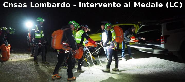 Soccorso alpino, Intervento al Medale (LC)