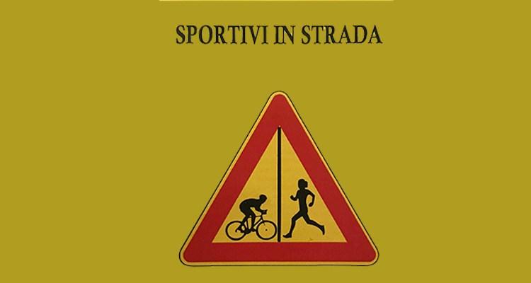segnale stradale runner-biker sportivi in strada liberi e uguali castellammare di stabia