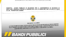 """Calabria, Bandi pubblici per nomine """"Trasparenti"""" in sanità"""