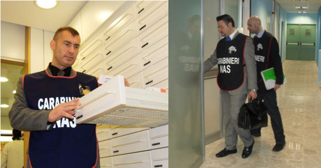 Carabinieri Nas, controlli a strutture sanitarie Combi