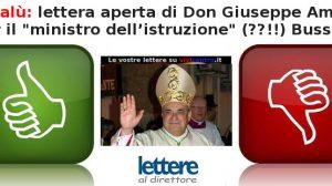 Cefalù, lettera aperta di Don Giuseppe Amato a Bussetti