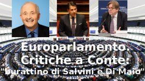 Europarlamento. Critiche a Conte