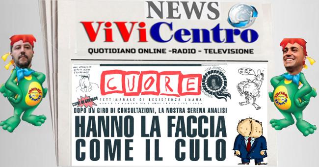 Hanno la faccia come il culo, Cuore-Giornale Salvini e Di Maio