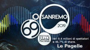 Sanremo, Ieri 9,4 milioni di spettatori