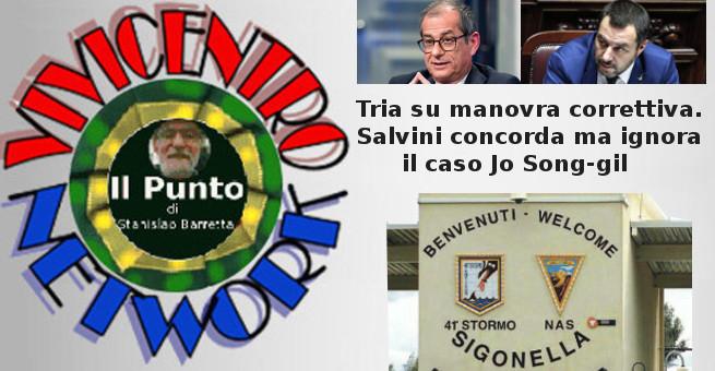 Tria su manovra correttiva. Salvini concorda ma ignora il caso Jo Song-gil
