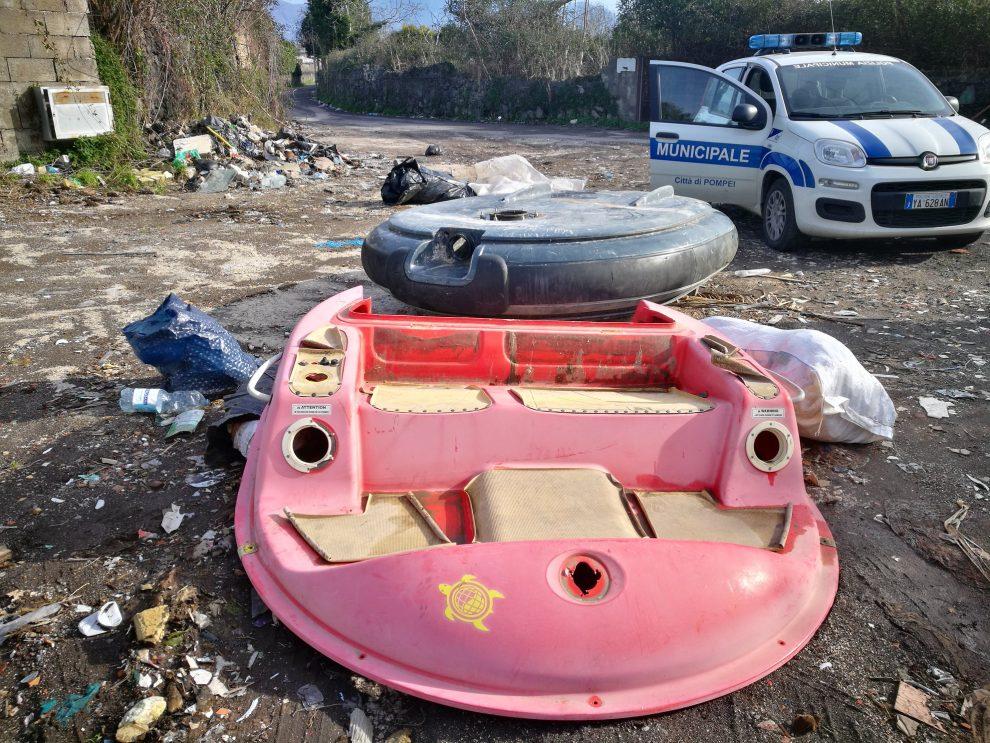 polizia municipale pompei discariche abusive