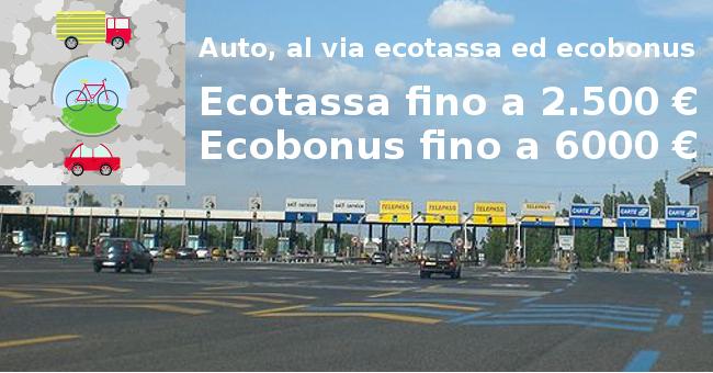 Auto, al via ecotassa ed ecobonus