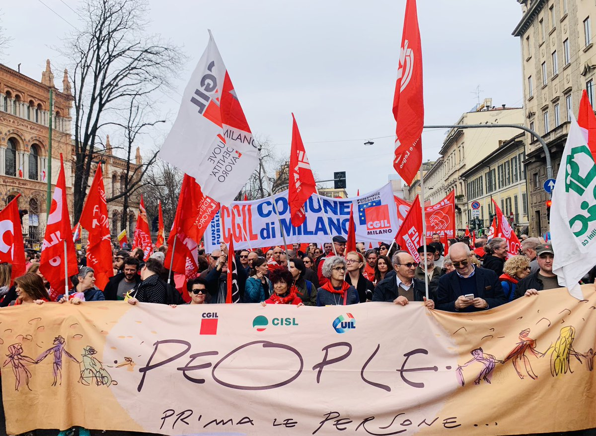 CGIL Lombardia su manifestazione #people