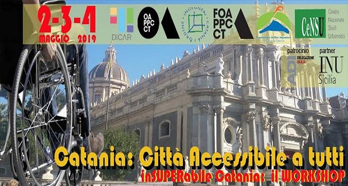 """""""Catania, città accessibile a tutti"""" un workshop per riprogettare in chiave accessibile la città"""
