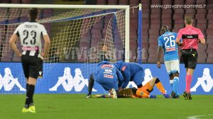 David Ospina a terra Napoli Udinese