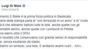 Di Maio su elezioni in Basilicata