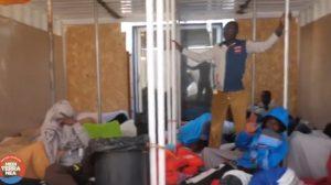 Migranti su Nave Ionio (frame da video Mediterranea)