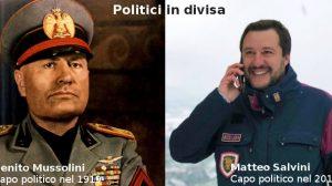 Politici in divisa - Mussolini e Salvini