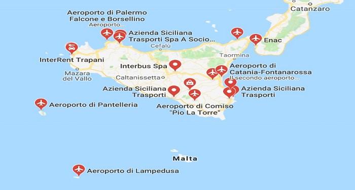 Aeroporti In Sicilia Cartina.La Regione Siciliana Vorrebbe Privatizzare Gli Aeroporti A Svelarlo La Deputata Grillina Stefania Campo Musumeci Lo Aveva Anticipato A Ottobre 2018