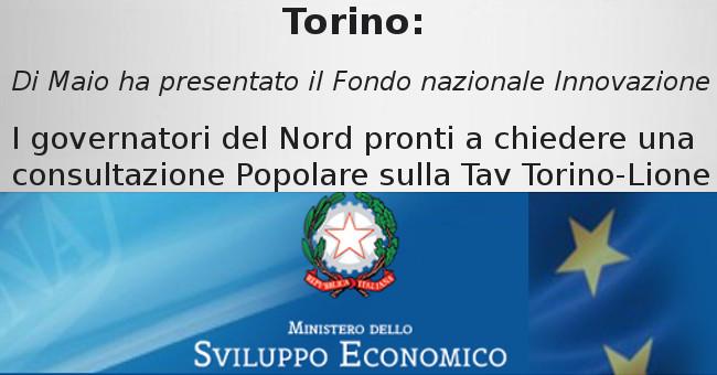 Torino, primo Innovation Act e richiesta di una consultazione su TAV