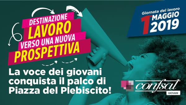 1 maggio a Napoli in piazza Plebiscito  con la Confsal