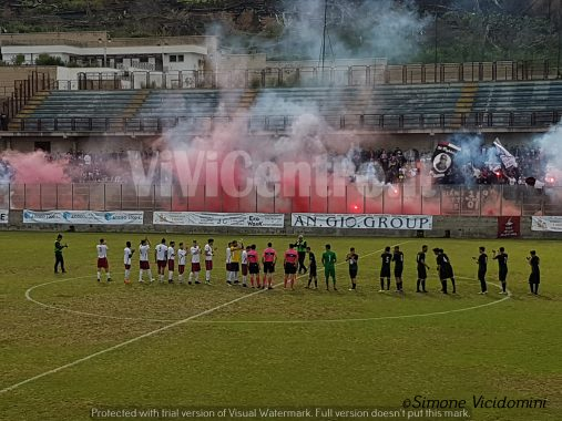 Puteolana-Barano 1-0 squadre in campo