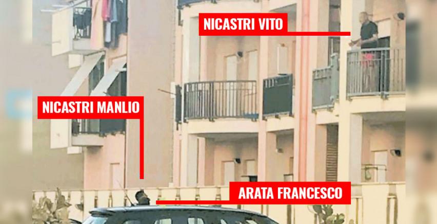 Arata Francesco con i Nicastri (foto da Blog M5S)