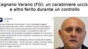 Cagnano Varano (FG), Carabiniere ucciso e altro ferito
