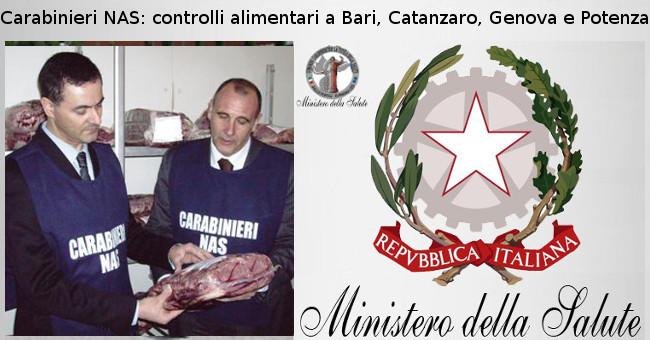 Carabinieri NAS controlli alimentari