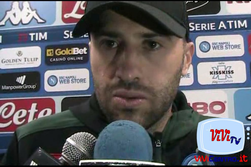 David Ospina mixed zone Napoli-Atalanata 220419