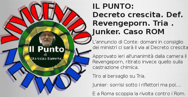 Decreto crescita. Def. Revengeporn. Tria . Junker. Caso ROM