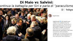 Di Maio vs Salvini, continua la battaglia per Siri e parla di 'paraculismo'