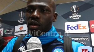 Kalidou Koulibaly mixed zone Napoli Arsenal 180419