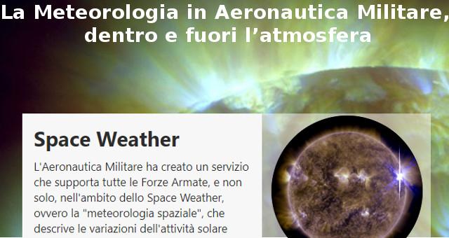 La Meteorologia in Aeronautica Militare, dentro e fuori l'atmosfera
