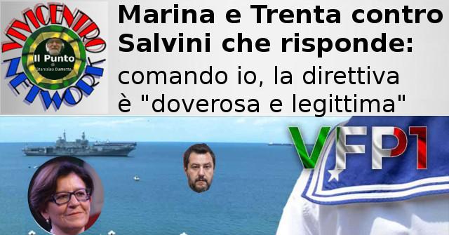 Marina e Trenta contro Salvini