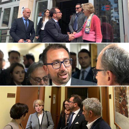 """Il ministro Bonafede dalla Sicilia: """"Questa Regione ha bisogni di messaggi di legalità"""""""