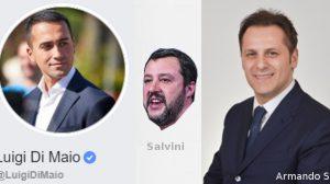 Di Maio, Salvini e Siri (combi di vivicentro con foto free)