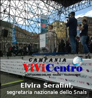 Primo Maggio, Elvira Serafini, segretaria nazionale dello Snals