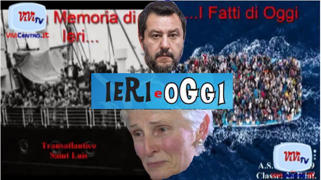 Ieri e Oggi a Palermo- Salvini e la Prof Rosa Maria Dell'Aria