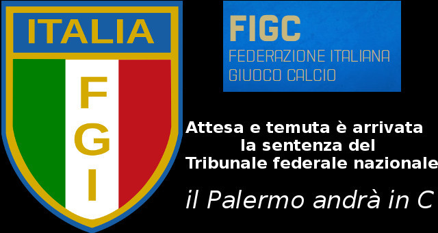 Il Palermo retrocesso in C