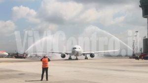 Inaugurazione aereo Napoli-New York FOTO FREE