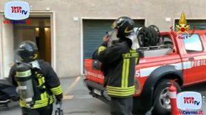 Intervento dei Vigili del fuoco per incendio cucina a Genova