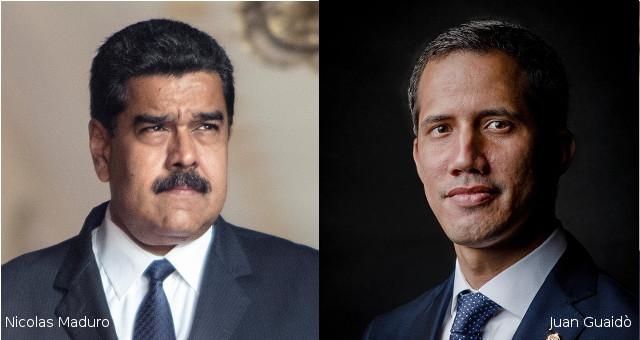 Nicolas Maduro e Juan Guaidò (con foto free CC)