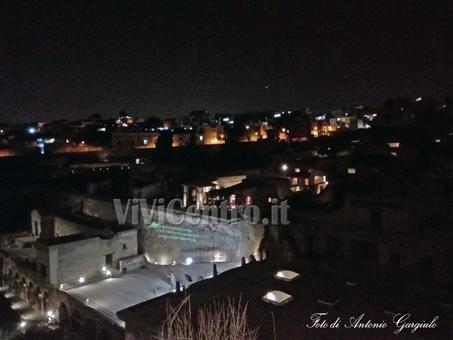 Parco Archeologico Ercolano in notturna - Foto di Antonio Gargiulo