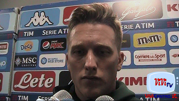 Piotr Zielinski in mixed zone al termine di Napoli inter 19-05-19