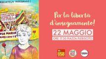 Presidio a Napoli per la libertà di insegnamento