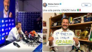 Salvini, prime dichiarazioni su suo Twitter e FB