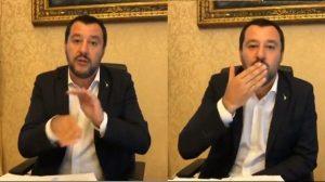Salvini via, fuori e Salvini bacio, bacio, Combi