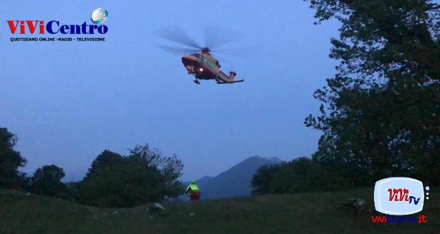 Soccorso SASL, con elicottero, a CASTIGLIONE D'INTELVI